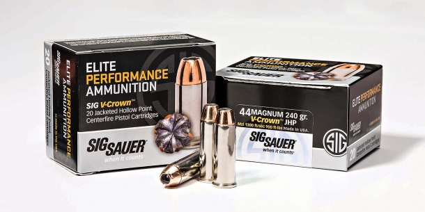 SIG Sauer Elite Performance 240gr .44 Remington Magnum revolver ammunition