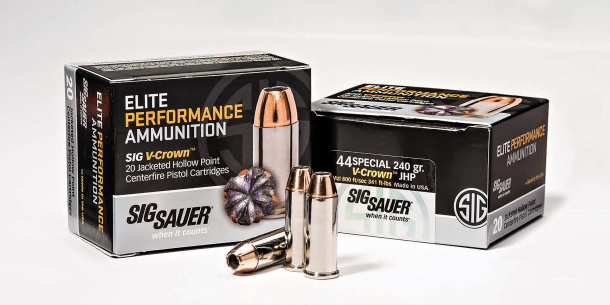 SIG Sauer Elite Performance 240gr .44 S&W Special revolver ammunition