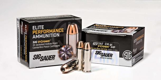 SIG Sauer Elite Performance 230gr .45 Colt revolver ammunition