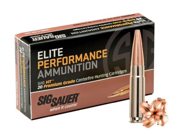 The SIG Sauer Elite Performance 120gr HT 300BLK supersonic hunting cartridge