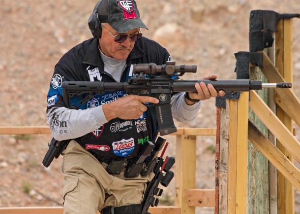 The world-champion shooter Jerry Miculek, sponsored by Fiocchi of America