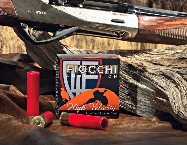 """Fiocchi 28 gauge 3"""" shotshell, realized in cooperation with Benelli USA for their Benelli ETHOS shotgun"""
