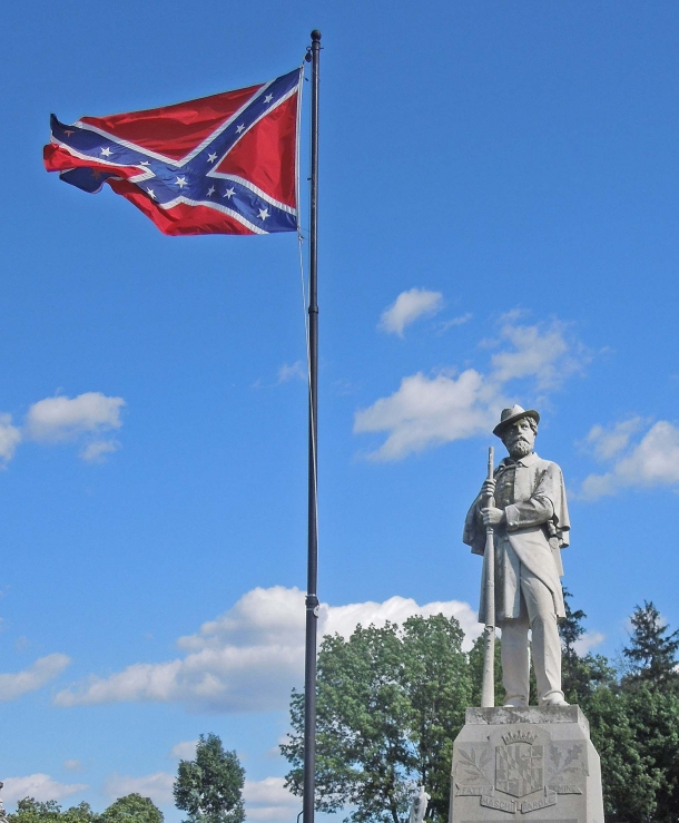One of the many Confederate monuments existing in the United States