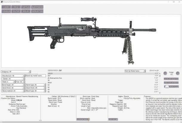 Nella Firearms Guide della Impressum Media sono coperte armi civili e militari