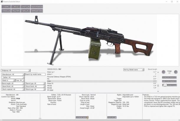...e per un'arma militare. La Firearms Guide è veramente completa!