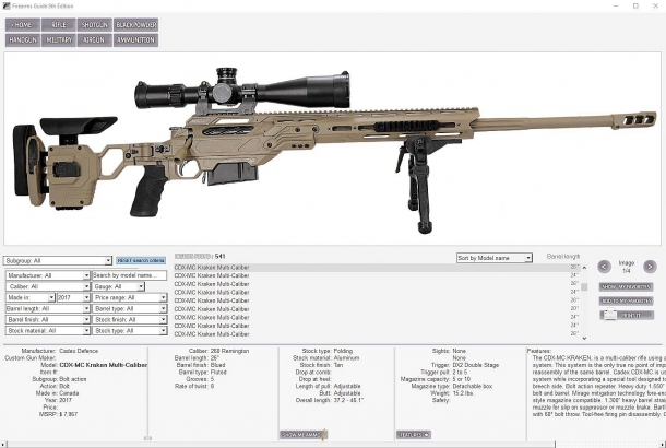 The Firearms Guide offers a complete, constantly updated and easy-to-surf database