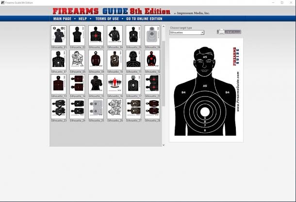 La Firearms Guide offre anche una vasta gamma di bersagli stampabili per il tiro d'allenamento