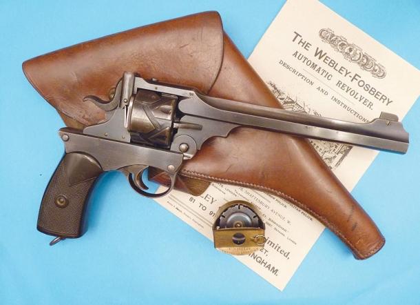Revolver automatico Webley Fosbery calibro .445 Webley