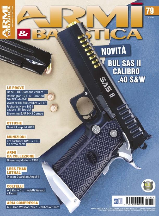 ARMI & BALISTICA: in edicola il numero 79 di settembre-ottobre 2018