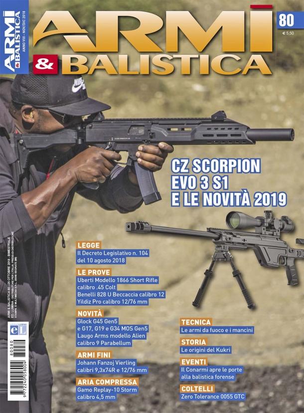 ARMI & BALISTICA: in edicola il numero 80 di novembre-dicembre 2018