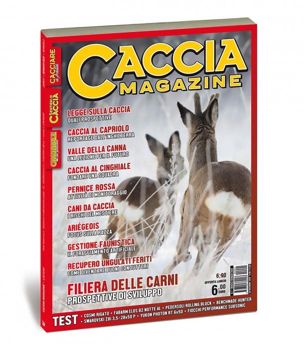 La copertina del primo numero di Caccia Magazine