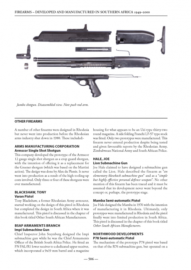 The DAMISA book covers some of the most obscure firearms ever developed and manufactured in modern times