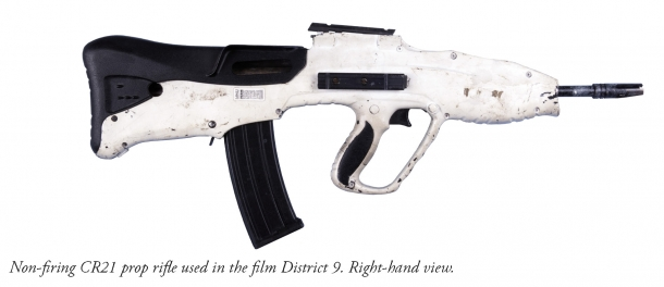 An outstanding example: the custom-modified Vektor CR21 rifle featured in a famous, critically acclaimed sci-fi movie