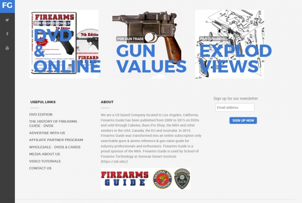 The Firearms Guide also offers gun values, exploded views, printable targets, and much more