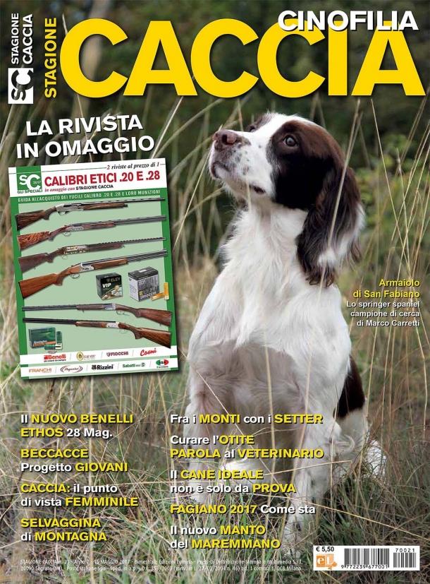 Copertina rivista Stagione Caccia - Cinofilia numero 21 / maggio 2017