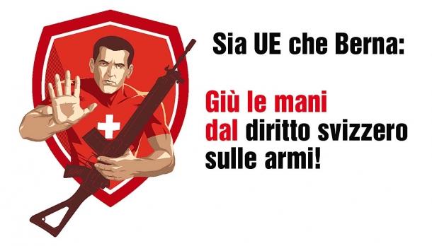 Il diritto alle armi è minacciato dalla direttiva europea persino in Svizzera!