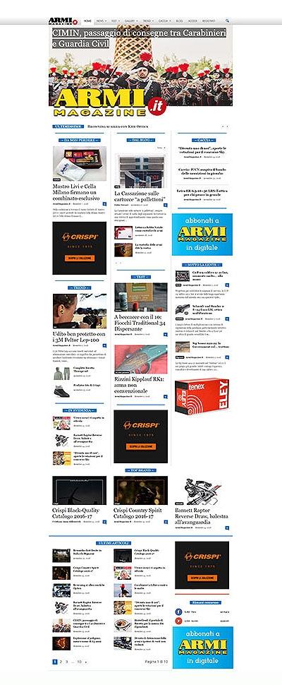 La struttura della Homepage del sito