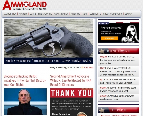 Firearms United - Italia rilancia l'editoriale di uno dei più importanti opinionisti di Ammoland.com: il controllo delle armi è un placebo politico inutile!