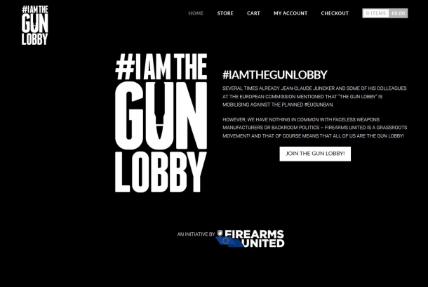 An E-Shop for Firearms United's merchandise is now up and running: #iamthegunlobby!