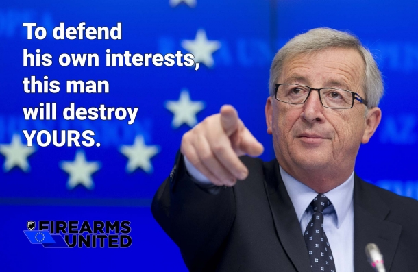 Firearms United's official website is now also hosting an open letter to Jean-Claude Juncker