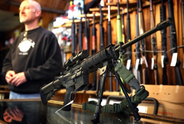 It's not a matter of opinions: you can NOT freely, legally purchase a machinegun over the counter anywhere in the United States. PERIOD!
