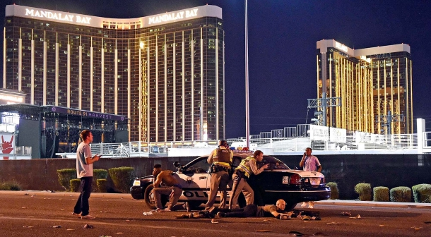 The Mandalay Bay Hotel and Casino in Las Vegas, from were the criminal has started his action