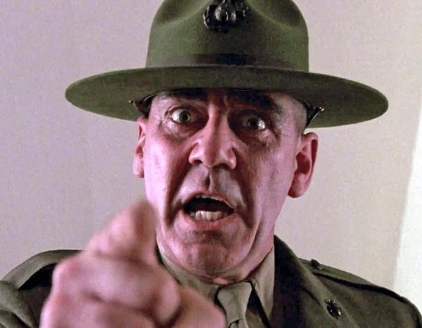 Il Sergente Maggiore Hartman di Full Metal Jacket (1987)