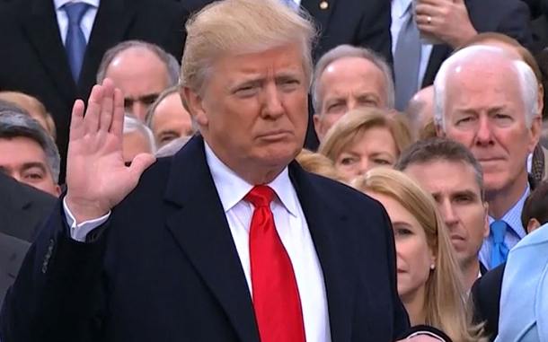 Donald Trump was sworn in as the 45th President of the United States on January 20