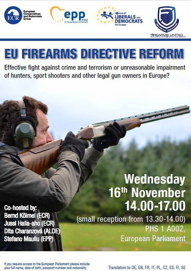 Firearms United announced the conference, held in collaboration with three political groups, in the past weeks