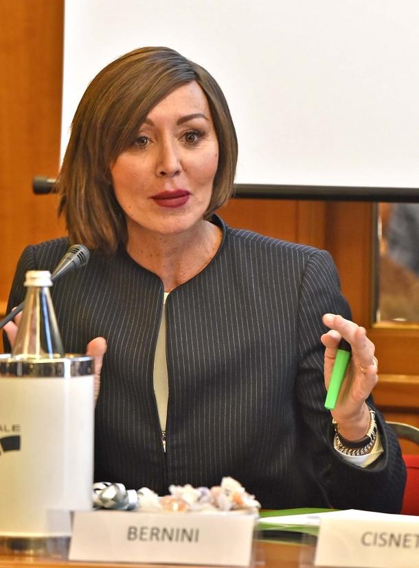 La Senatrice Anna Maria Bernini, Vicepresidente del gruppo di Forza Italia al Senato