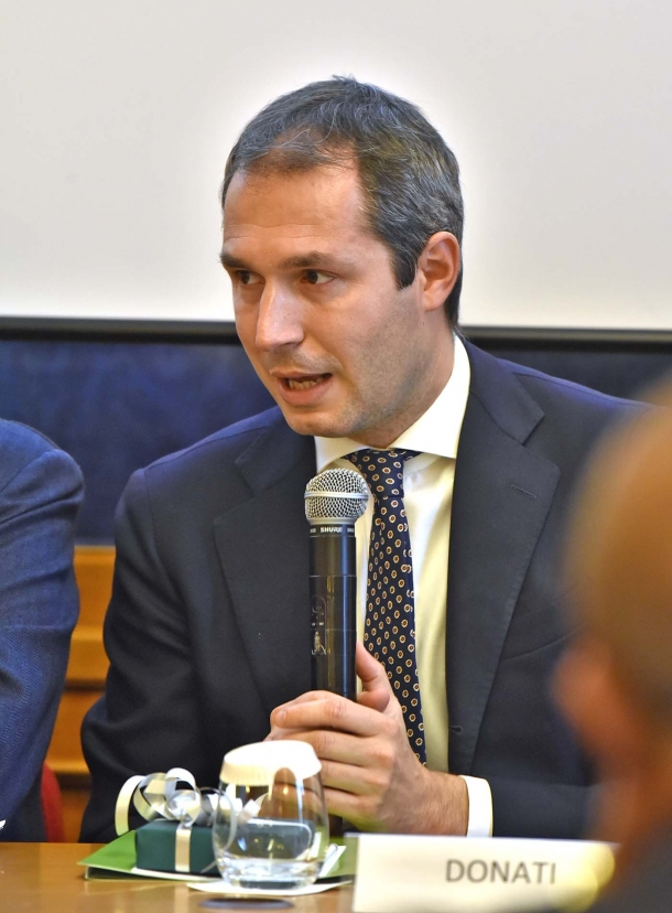 L'On. Marco Donati, membro della Commissione Attività Produttive, Commercio e Turismo alla Camera dei Deputati