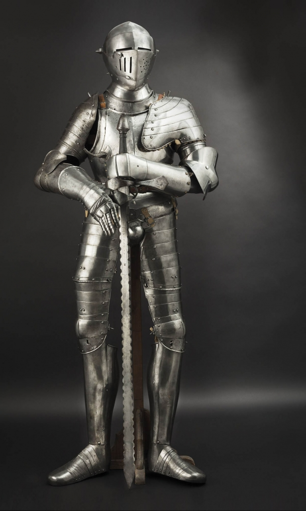 German composite full armour, Augsburg type, 2nd half of the 16th century