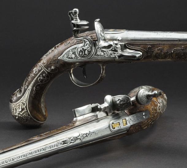 Pair of significant deluxe flintlock pistols, Princes von Lobkowitz