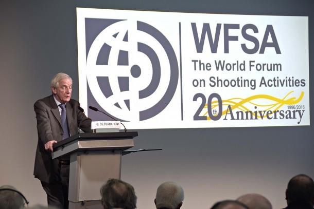 """Gilbert De Turckheim (Francia), ha tenuto il discorso d'apertura dal titolo: """"Autentica conservazione nel mondo moderno"""""""