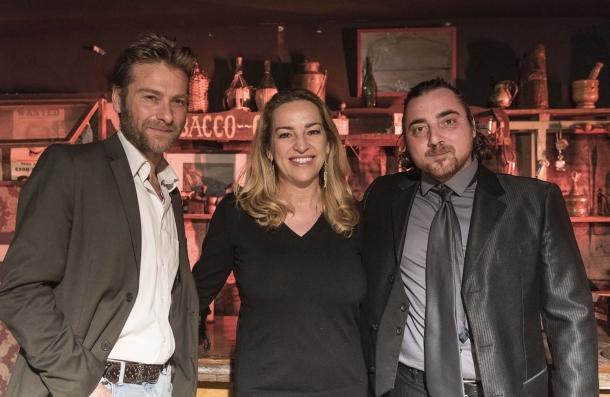 Cristiana Pedersoli (figlia del grande Bud Spencer) insieme al regista Emiliano Ferrera e il produttore Tiziano Carnevale