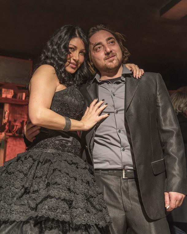 L'attrice protagonista Yassmin Pucci insieme al produttore e attore Tiziano Carnevale