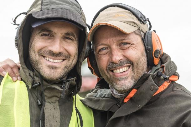 Ugo Pelosi e Alberto Panza, due elementi chiave dell'organizzazione: i loro sorrisi dicono tutto dello spirito che caratterizza il Trofeo Fiocchi-Sabatti