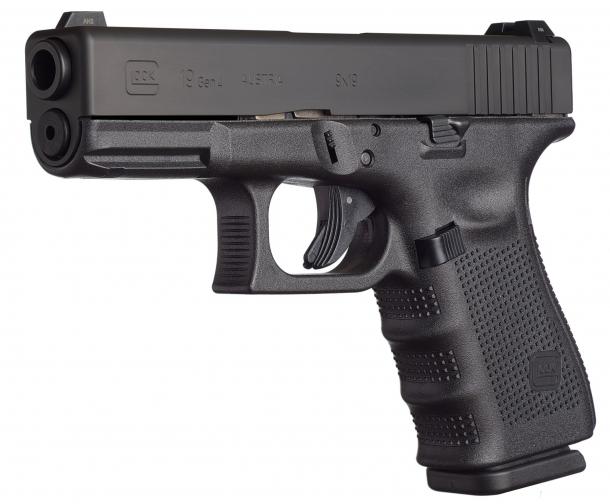 Il terzo premio: pistola semi-automatica Glock 19 Gen.4 calibro 9x21 IMI