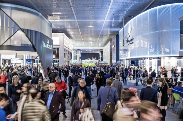 A view of the Baselworld luxury fair