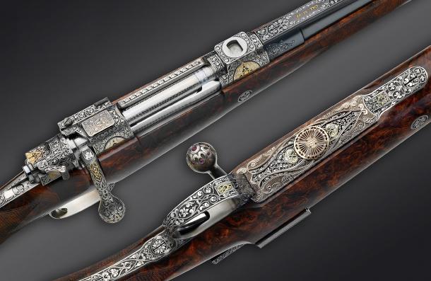Details of the Fanzoj Rich Ornament bolt action rifle