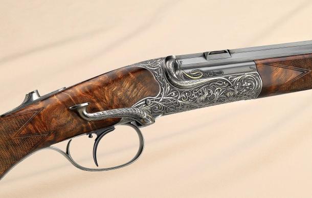 A detail of the Fanzoj Petite single shot rifle