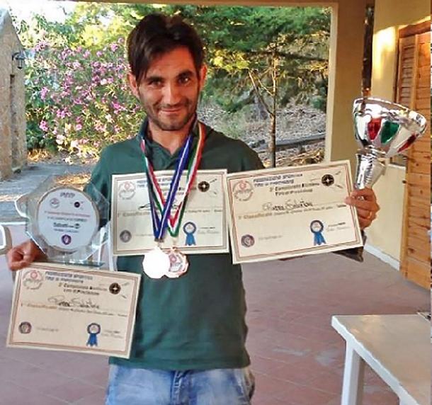 Salvo Piazza, che con la sua carabina Sabatti Tactical Sport ha vinto a Enna nella categoria Carabina Sport Factory