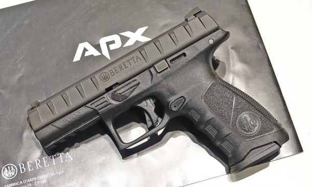 La nuova pistola APX: la candidata Beretta per il programma MHS era proprio questa, in una versione con sicura manuale ambidestra che, nella versione commerciale, è disponibile come optional su richiesta