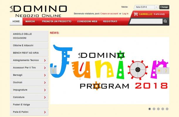 Il Negozio Online di La Domino, dove è possibile acquistare moltissimi accessori dedicati al tiro sportivo e agonistico