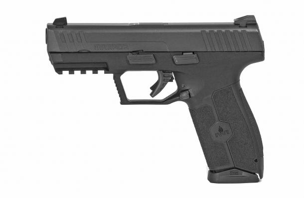 The IWI MASADA pistol, left side