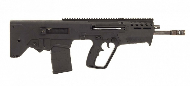 The right side of the IWI TAVOR 7 battle rifle