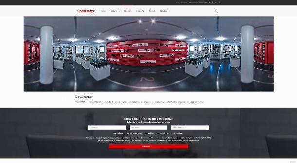 I visitatori possono iscriversi alla newsletter Umarex