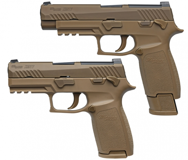 According to U.S. sources, commercial SIG Sauer P320s could be retrofitted with M17 MHS triggers