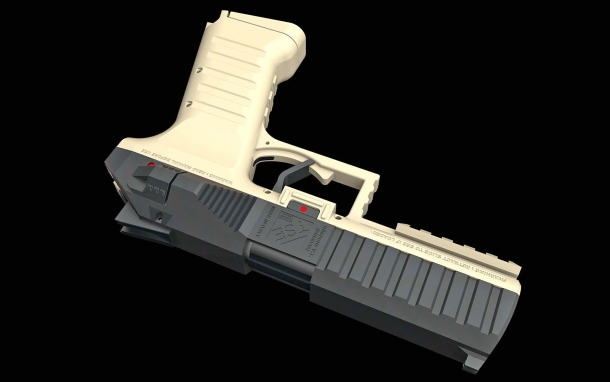 Tecnostudio Engineering's new hammer-fired pistol project has been christened the 'Symmetrical'