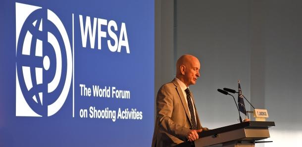The WFSA President Torbjörn Lindskog, during the opening speech